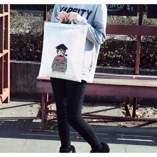[해외] 하라주쿠 문학 캔버스 가방 여성 어깨
