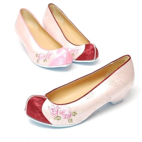 분홍 나비수2 3.0cm 여성한복화 [제작 대량 도매 로고 인쇄 레이저 마킹 각인 나염 실크 uv 포장 공장 문의는 네이뽕]