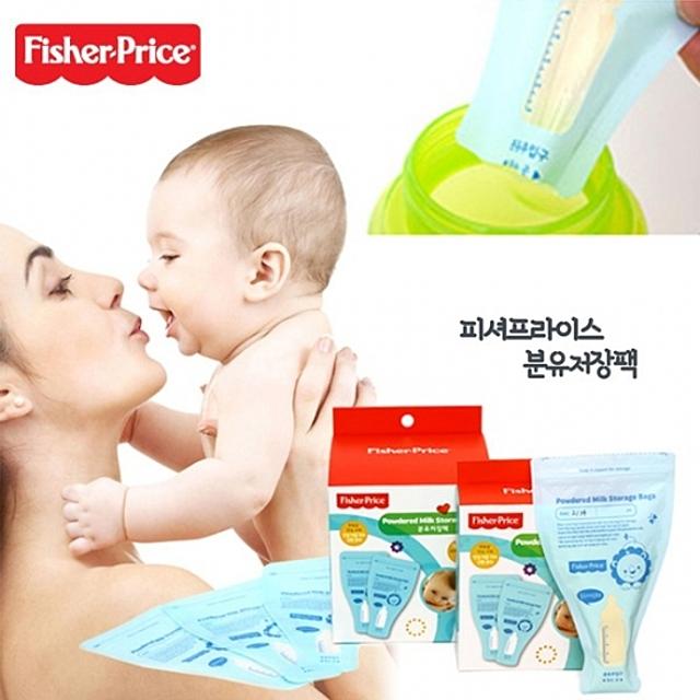 피셔프라이스 분유 저장팩 100매-수유용품 피셔프라이스 모유저장팩 일회용 유아용품