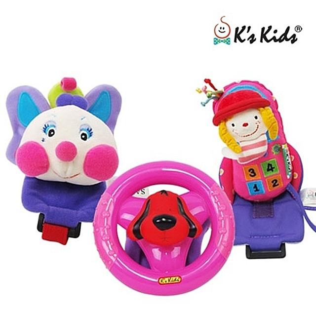 (케이즈키즈 해피트리오 (레이디)) 유모차장난감 헝겊완구 유아완구 유아장난감 아기장난감 장난감