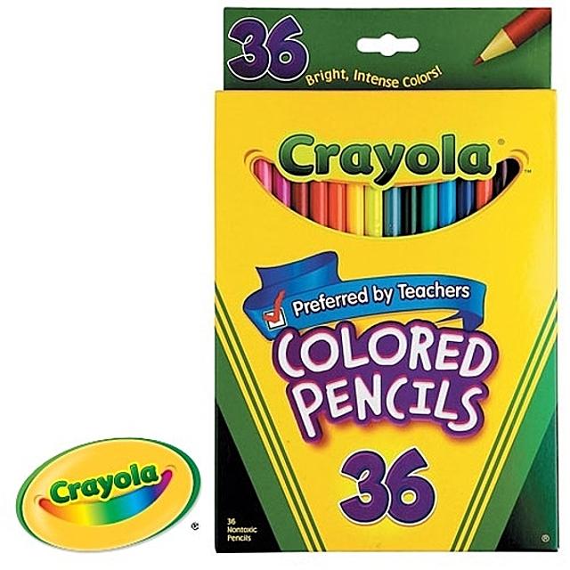 (크레욜라 일반색연필 36색)색연필 유아동 전문 미술용품